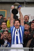 6 December 2015; The Ballyboden St Enda's captain, Darragh Nelson, lifts the cup. AIB Leinster GAA Senior Club Football Championship Final, Portlaoise v Ballyboden St Enda's. O'Connor Park, Tullamore, Co. Offaly. Picture credit: Ray McManus / SPORTSFILE