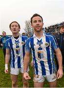6 December 2015; Darren O'Reilly, left, and Stephen O'Connor, Ballyboden St Enda's, watch the closing seconds of the game. AIB Leinster GAA Senior Club Football Championship Final, Portlaoise v Ballyboden St Enda's. O'Connor Park, Tullamore, Co. Offaly. Picture credit: Ray McManus / SPORTSFILE