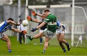 6 December 2015; Paul Cahillane, Portlaoise, kicks towards the posts late in the game. AIB Leinster GAA Senior Club Football Championship Final, Portlaoise v Ballyboden St Enda's. O'Connor Park, Tullamore, Co. Offaly. Picture credit: Stephen McCarthy / SPORTSFILE