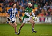 6 December 2015; Brian Smyth, Portlaoise, in action against Darragh Nelson, Ballyboden St Enda's. AIB Leinster GAA Senior Club Football Championship Final, Portlaoise v Ballyboden St Enda's. O'Connor Park, Tullamore, Co. Offaly. Picture credit: Stephen McCarthy / SPORTSFILE