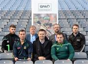 8 December 2015; In attendance at the launch of the GPA's report on Ring, Rackard and Meagher competitions are, from left, Paul Divilly, Kildare senior hurler, James Toher, Meath senior hurler, Donal O'Grady, Author of the Report, Dessie Farrell, CEO GPA, Tomás Culton, Development Officer GPA,  Mark Curry, Fermanagh senior hurler, and Eamonn Murphy, GPA. Croke Park, Dublin. Picture credit: Sam Barnes / SPORTSFILE