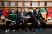 8 December 2015; In attendance at the launch of the GPA's report on Ring, Rackard and Meagher competitions are, from left, Mark Curry, Fermanagh senior hurler, Donal O'Grady, Author of the Report,  Paul Divilly, Kildare senior hurler, and James Toher, Meath Senior hurler. Croke Park, Dublin. Picture credit: Sam Barnes / SPORTSFILE
