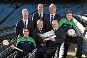 10 December 2015; Leinster GAA Chairman John Horan, centre, with from left, Eanna Martin, Wexford Hurling, Pat Teehan, leinster GAA PRO, Jim Bolger, Leinster GAA Vice Chairman, Syl Merrins, Leinster Treasure, Michael Reynolds, CEO Leinster, and Paul Cribbin, Kildare Football, at the Launch of the Leinster GAA Strategic Vision and Action Plan. Croke Park, Dublin. Picture credit: Matt Browne / SPORTSFILE