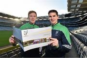 10 December 2015; Kildare footballer Paul Cribbin and Wexford hurler Eanna Martin at the Launch of the Leinster GAA Strategic Vision and Action Plan. Croke Park, Dublin. Picture credit: Matt Browne / SPORTSFILE