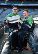 10 December 2015; Wexford hurler Eanna Martin and Kildare footballer Paul Cribbin at the Launch of the Leinster GAA Strategic Vision and Action Plan. Croke Park, Dublin. Picture credit: Matt Browne / SPORTSFILE