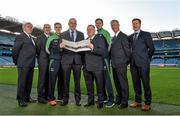 10 December 2015;  Leinster GAA Chairman John Horan, centre, with from left, Michael Reynolds, CEO Leinster GAA, Syl Merrins, Leinster Treasurer, Eanna Martin, Wexford hurler, Jim Bolger, Leinster GAA Vice Chairman,  Pat Teehan, Leinster GAA PRO, and Shane Flanagan, Leinster GAA Operations Manager. At the Launch of the Leinster GAA Strategic Vision and Action Plan. Croke Park, Dublin. Picture credit: Matt Browne / SPORTSFILE