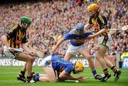 6 September 2009; Padraic Maher and Paddy Stapleton, Tipperary, in action against Eddie Brennan, left, and Richie Power, Kilkenny. GAA Hurling All-Ireland Senior Championship Final, Kilkenny v Tipperary, Croke Park, Dublin. Picture credit: Brian Lawless / SPORTSFILE