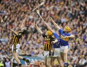 6 September 2009; Aidan Fogarty and Richie Power, Kilkenny, in action against Paddy Stapleton and Padraic Maher, Tipperary. GAA Hurling All-Ireland Senior Championship Final, Kilkenny v Tipperary, Croke Park, Dublin. Picture credit: Oliver McVeigh / SPORTSFILE