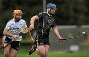13 December 2015; Ger Aylward, Kilkenny,  2015 All-Stars, in action against Kieran Bergin, Tipperary, 2014 All-Stars. GAA All-Star Tour 2015, sponsored by Opel, 2014 All-Stars v 2015 All-Stars. St Edward's University, Austin, Texas, USA. Picture credit: Ray McManus / SPORTSFILE