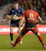 13 December 2015; Sean Cronin, Leinster, runs a Duane Vermeulen, Toulon. European Rugby Champions Cup,  Pool 5, Round 3, RC Toulon v Leinster. Stade Felix Mayol, Toulon, France. Picture credit: Seb Daly / SPORTSFILE