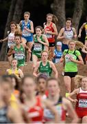13 December 2015; Ireland athletes, from left, Nadia Power, Sophie Murphy and Emma O'Brien compete in the Junior Women's event. SPAR European Cross Country Championships Hyeres 2015. Paray Le Monial, France Picture credit: Cody Glenn / SPORTSFILE