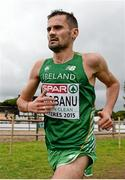 13 December 2015; Ireland's Sergiu Ciobanu competes in the Senior Men's event. SPAR European Cross Country Championships Hyeres 2015. Paray Le Monial, France Picture credit: Cody Glenn / SPORTSFILE