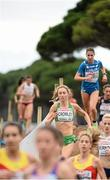 13 December 2015; Ireland's Caroline Crowley on her way to a 23rd place finish in the Senior Women's event. SPAR European Cross Country Championships Hyeres 2015. Paray Le Monial, France Picture credit: Cody Glenn / SPORTSFILE