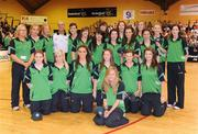 29 August 2009; The Ireland under 18 girls team who received their caps. Senior Women's Basketball European Championship Qualifier, Ireland v Netherlands, National Basketball Arena, Tallaght, Dublin. Picture credit: Paul Mohan / SPORTSFILE