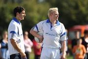 12 September 2009; Dublin's Bernard Brogan, left, and Mark Vaughan at the MBNA Kick Fada. MBNA Kick Fada, Bray Emmets GAA Club, Co. Wicklow. Picture credit: Pat Murphy / SPORTSFILE