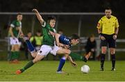 15 December 2015; George Gill, Cork City, in action against Sean McSweeney, Limerick FC. SSE Airtricity National U19 League Final, Limerick FC v Cork City. Marketsfield, Limerick. Picture credit: Diarmuid Greene / SPORTSFILE