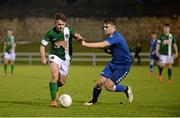 15 December 2015; Craig Donnellan, Cork City, in action against Clyde O'Connell, Limerick FC. SSE Airtricity National U19 League Final, Limerick FC v Cork City. Marketsfield, Limerick. Picture credit: Diarmuid Greene / SPORTSFILE