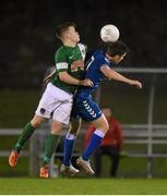 15 December 2015; Sean McSweeney, Limerick FC, in action against George Gill, Cork City. SSE Airtricity National U19 League Final, Limerick FC v Cork City. Marketsfield, Limerick. Picture credit: Diarmuid Greene / SPORTSFILE
