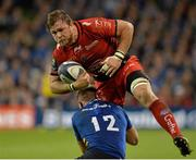 19 December 2015; Duane Vermeulen, Toulon, is tackled by Luke Fitzgerald, Leinster. European Rugby Champions Cup, Pool 5, Round 4, Leinster v RC Toulon. Aviva Stadium, Lansdowne Road, Dublin. Picture credit: Matt Browne / SPORTSFILE