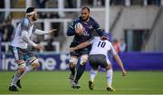20 December 2015; George Naoupu, Connacht, is tackled by Alex Rogers and Craig Willis, Newcastle Falcons. European Rugby Challenge Cup, Pool 1, Round 4, Newcastle Falcons v Connacht. Kingston Park, Newcastle, England. Picture credit: Seb Daly / SPORTSFILE