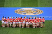 20 September 2009; The Cork team assemble for the traditional team photograph. GAA Football All-Ireland Senior Championship Final, Kerry v Cork, Croke Park, Dublin. Picture credit: Ray McManus / SPORTSFILE