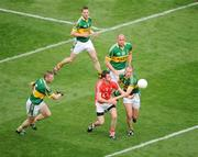 20 September 2009; Donncha O'Connor, Cork, in action against, from left, Tomas O Se, Marc O Se, Micheal Quirke, and Mike McCarthy, Kerry. GAA Football All-Ireland Senior Championship Final, Kerry v Cork, Croke Park, Dublin. Picture credit: Brian Lawless / SPORTSFILE