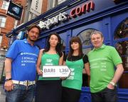 30 March 2009; Former Italian and Republic of Ireland internationals Toto Schillaci and Ray Houghton with Boylesports' Debbie Gilmore, left, and Nicola McGeady at the launch of Boylesports' supporters promotion for Irish fans travelling to Bari for the crunch group 8 game between the Republic of Ireland and the Azzurre. Boylesports, Grafton Street, Dublin. Picture credit: Pat Murphy / SPORTSFILE