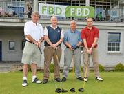 12 June 2009; The St. Mollerans, Waterford, GAA club team, from left, Noel Kelly, Jimmy Flynn, Pat Landers and John Finucane, during the Munster final of the FBD All-Ireland GAA Golf Challenge which took place in Dundrum, County Tipperary. Teams were playing for provincial glory and a place in the All-Ireland final at Faithlegg in September. Dundrum Golf Club, Dundrum, Co. Tipperary. Picture credit: Brian Lawless / SPORTSFILE