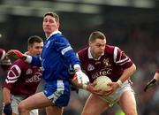 18 February 2001; Liam Moffatt, Crossmolina, in action against Bellaghy. Crossmolina v Bellaghy, AIB All Ireland Club Football Championship Semi Final, Brewster Park, Enniskillen. Picture credit; Ray McManus/SPORTSFILE