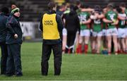 3 January 2016; Stephen Rochford, Mayo manager with coach Tony McEntee before the start of the game. FBD Connacht League, Section A, Mayo v NUIG. Elverys MacHale Park, Castlebar, Co. Mayo. Picture credit: David Maher / SPORTSFILE