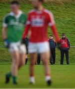 3 January 2016; New Cork manager Peadar Healy, right, with his selector Eamonn Ryan during the game. McGrath Cup Football, Group B, Round 1, Cork v Limerick. Mallow GAA Grounds, Mallow, Co. Cork. Picture credit: Brendan Moran / SPORTSFILE