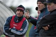 3 January 2016; New Cork manager Peadar Healy, left, with his selectors, from right, Morgan O'SullEvan, Paudie Kissane and Eamonn Ryan during the game. McGrath Cup Football, Group B, Round 1, Cork v Limerick. Mallow GAA Grounds, Mallow, Co. Cork. Picture credit: Brendan Moran / SPORTSFILE