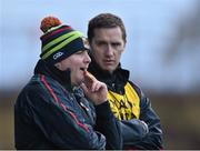 3 January 2016; Mayo manager Stephen Rochford and selector Tony McEntee, right. FBD Connacht League, Section A, Mayo v NUIG. Elverys MacHale Park, Castlebar, Co. Mayo. Picture credit: David Maher / SPORTSFILE