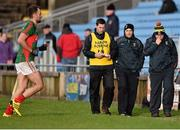 3 January 2016; Stephen Rochford, right, Mayo manager with selectors, Sean Carey, centre, and Tony McEntee. FBD Connacht League, Section A, Mayo v NUIG. Elverys MacHale Park, Castlebar, Co. Mayo. Picture credit: David Maher / SPORTSFILE