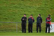 3 January 2016; Cork manager Peadar Healy, right, with selecytors, from left, Morgan O'SullEvan, Eamonn Ryan and Paudie Kissane. McGrath Cup Football, Group B, Round 1, Cork v Limerick. Mallow GAA Grounds, Mallow, Co. Cork. Picture credit: Brendan Moran / SPORTSFILE