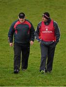 3 January 2016; Cork manager Peadar Healy, right, with selector Eamonn Ryan. McGrath Cup Football, Group B, Round 1, Cork v Limerick. Mallow GAA Grounds, Mallow, Co. Cork. Picture credit: Brendan Moran / SPORTSFILE
