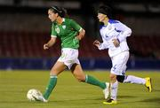 24 September 2009; Fiona O'Sullivan, Republic of Ireland, in action against Aigerim Bissembayeva, Kazakhstan. FIFA 2011 Women's World Cup Qualifier, Republic of Ireland v Kazakhstan, Turners Cross, Co. Cork. Picture credit: Matt Browne / SPORTSFILE