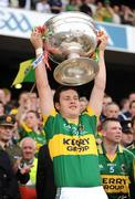 20 September 2009; Padraig Reidy, Kerry, lifts the Sam Maguire cup. GAA Football All-Ireland Senior Championship Final, Kerry v Cork, Croke Park, Dublin. Picture credit: Ray McManus / SPORTSFILE