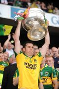 20 September 2009; Ger Reidy, Kerry, lifts the Sam Maguire cup. GAA Football All-Ireland Senior Championship Final, Kerry v Cork, Croke Park, Dublin. Picture credit: Ray McManus / SPORTSFILE