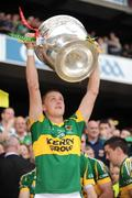 20 September 2009; Aidan O'Shea, Kerry, lifts the Sam Maguire cup. GAA Football All-Ireland Senior Championship Final, Kerry v Cork, Croke Park, Dublin. Picture credit: Ray McManus / SPORTSFILE
