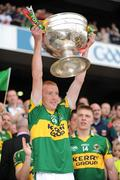 20 September 2009; Maurice Corridan, Kerry, lifts the Sam Maguire cup. GAA Football All-Ireland Senior Championship Final, Kerry v Cork, Croke Park, Dublin. Picture credit: Ray McManus / SPORTSFILE