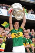 20 September 2009; Anthony Maher, Kerry, lifts the Sam Maguire cup. GAA Football All-Ireland Senior Championship Final, Kerry v Cork, Croke Park, Dublin. Picture credit: Ray McManus / SPORTSFILE
