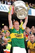 20 September 2009; Seamus Scanlon, Kerry, lifts the Sam Maguire cup. GAA Football All-Ireland Senior Championship Final, Kerry v Cork, Croke Park, Dublin. Picture credit: Ray McManus / SPORTSFILE