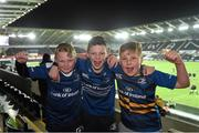 8 January 2016; Leinster supporters, and members of Boyne RFC, from left, Sean Flaherty, Conor Clifford and Tadhg Martin. Guinness PRO12, Round 12, Ospreys v Leinster. Liberty Stadium, Swansea, Wales. Picture credit: Stephen McCarthy / SPORTSFILE
