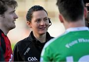 10 January 2016; Linesman Maggie Farrelly. Bank of Ireland Dr. McKenna Cup, Group B, Round 2, Down v Fermanagh, Páirc Esler, Newry, Co. Down. Picture credit: Mark Marlow / SPORTSFILE