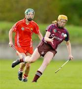 10 October 2009; Sarah Dervan, Galway, in action against Mary Coleman, Cork. Gala All-Ireland Intermediate Camogie Championship Final Replay, Cork v Galway, McDonagh Park, Nenagh, Co. Tipperary. Picture credit: Diarmuid Greene / SPORTSFILE