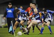 13 October 2009; Mark Vaughan and Brian McGrath, Kilmacud Crokes, in action against Shane Durkin, left and Conor Dolan, Ballyboden St Enda's. Dublin County Senior Football Semi-Final 2nd Replay, Kilmacud Crokes v Ballyboden St Enda's, Parnell Park, Dublin. Picture credit: Ray Lohan / SPORTSFILE
