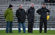 10 January 2016; Kerry selectors Mikey Sheehy, 2nd from left, and Diarmuid Murphy, with Patrick O'SullEvan, left, Chairman, Kerry County Board and Padraig Corcoran, right,Kerry squad trainer. McGrath Cup, Group A, Round 2, Kerry v Clare, Fitzgerald Stadium, Killarney, Co. Kerry. Picture credit: Brendan Moran / SPORTSFILE