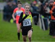 16 January 2016; Fionnuala McCormack, on her way to 3rd place in the Senior Womens race. Antrim International Cross Country, Greenmount Campus, Antrim. Picture credit: Oliver McVeigh / SPORTSFILE