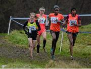 16 January 2016; Fionnuala McCormack, Ireland, left, leads Kate Avery, Great Britan, Alice Aprot Nawowuna, Kenya and Mimi Belete, Bahrain on her way to finishing third in the Senior Womens race. Antrim International Cross Country, Greenmount Campus, Stormont, Antrim. Picture credit: Oliver McVeigh / SPORTSFILE
